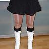 wifes sexy boots stifele glossy shiny pantyhose