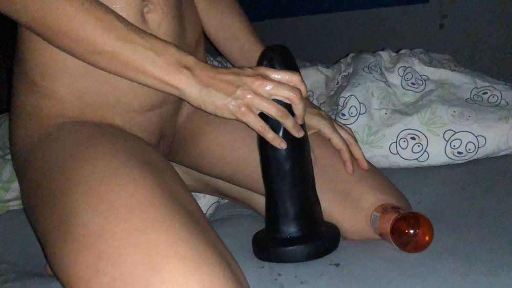 This slut rides a bone-9102