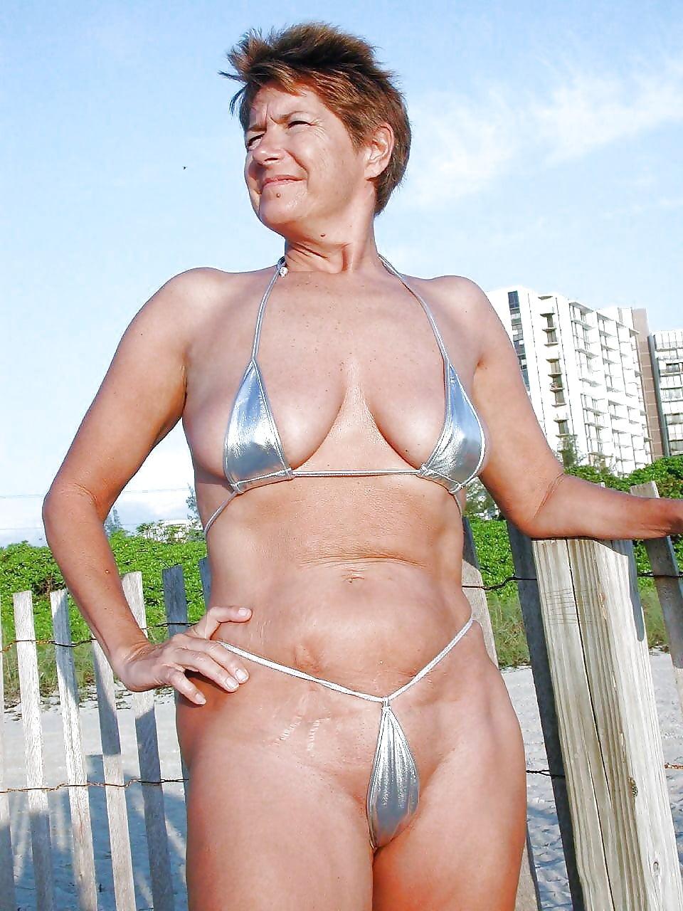 Sexy swimsuit grannies