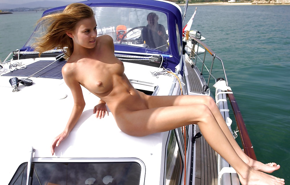 Naked slut in a boat, nude boys at school