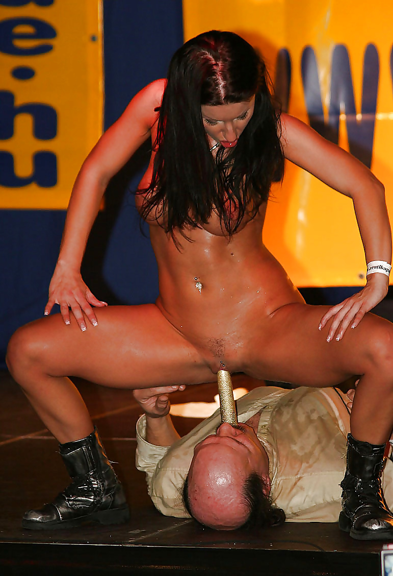 Naked sex shows on stage, cock get hard