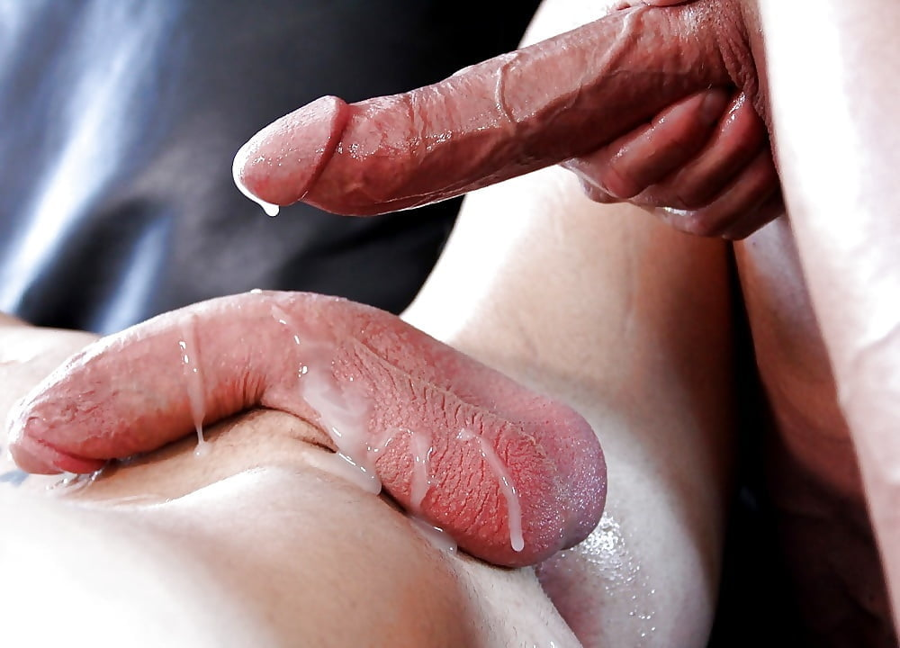 Lubed Slippery Big Dick Fucks Squirting Pussy