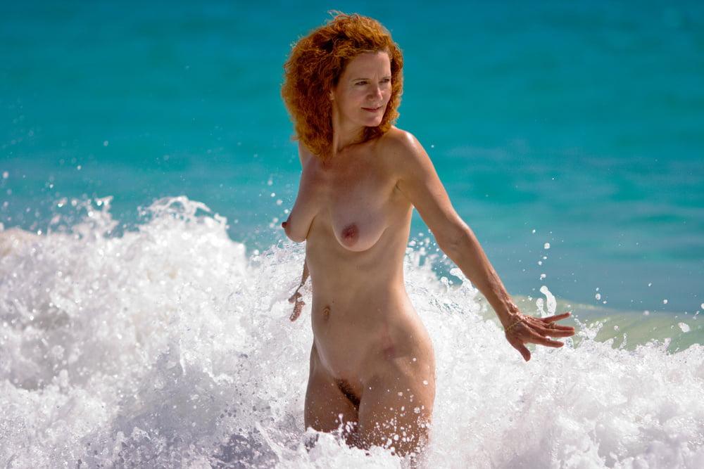 Skinny Sultry Redhead Nudist