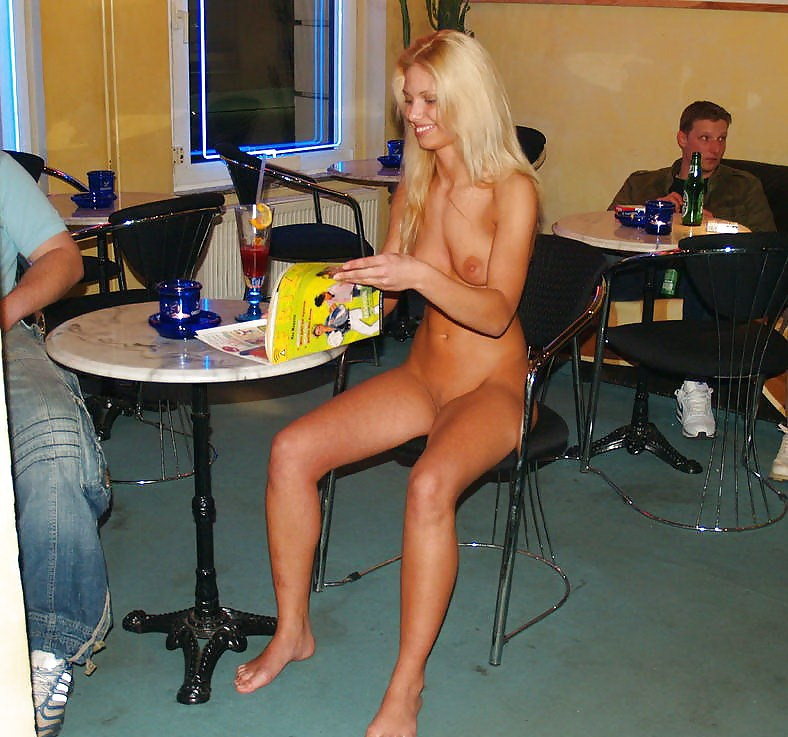 Woman stripped in bar