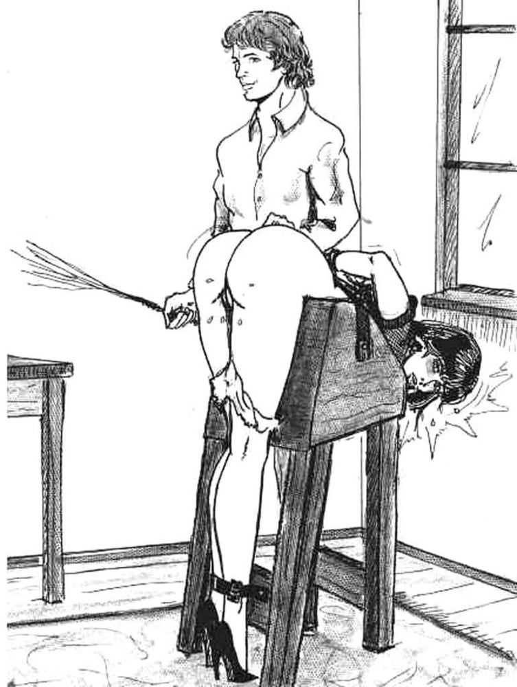 Erotic spanking positions, big shaved cunt lips