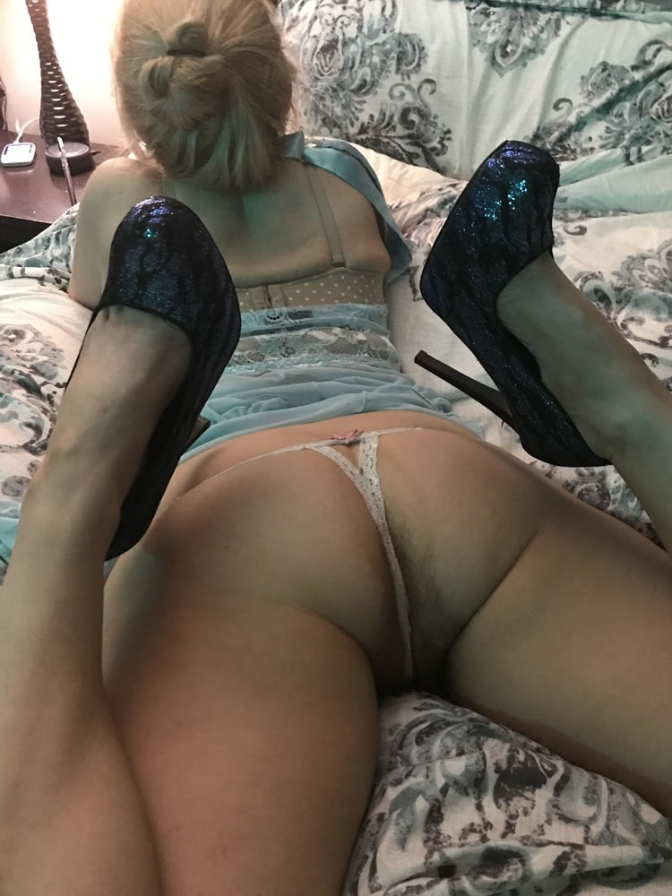 White Lace Panties from Behind American Milf 18