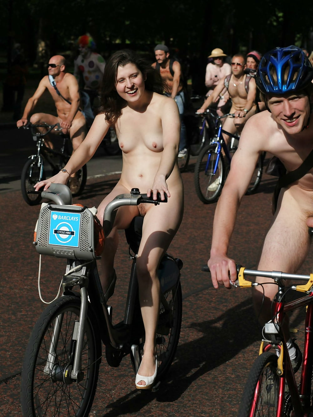 Lilya Out For A Naked Bike Ride