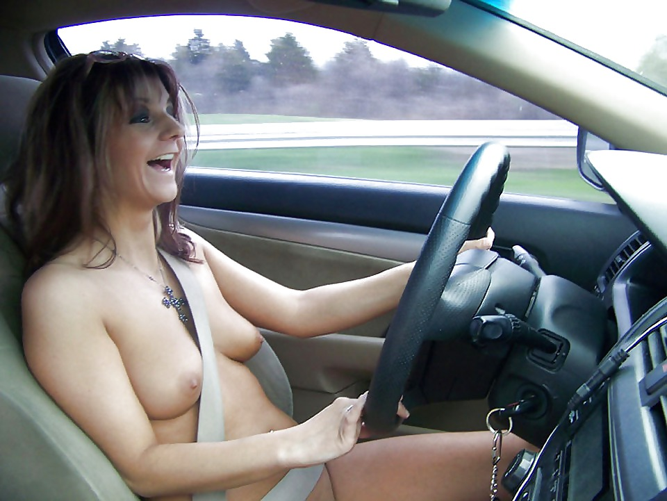 Hot girl naked road trip #2