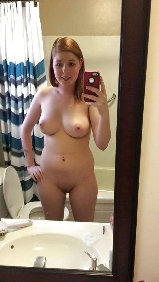 Preggo Pregnant Selfie Selfshot Mirror Bra Panties Blonde Amateur Teen Nude Pics