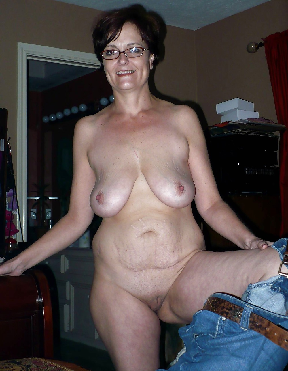 Fat saggy mature