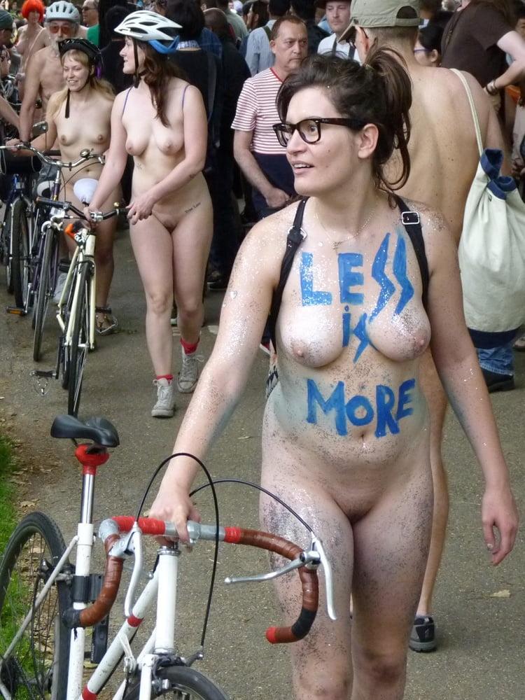 Geeky Brunette London 2014 Wnbr World Naked Bike Ride -2825