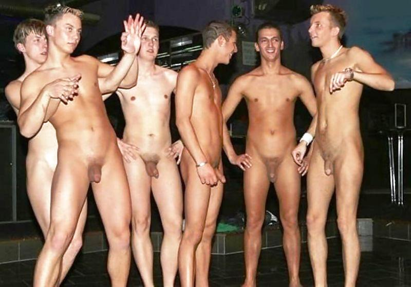 Bunch of males naked