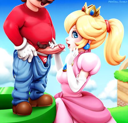 Mario Bros kreskówki porno czarne suki tryskać