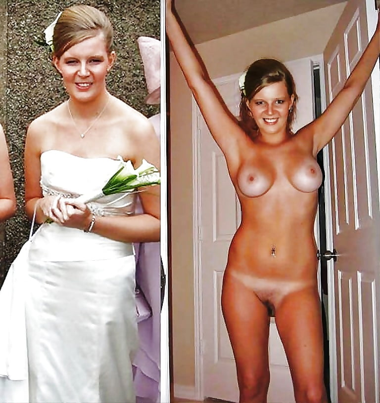 Nude girls dressed undressed before after