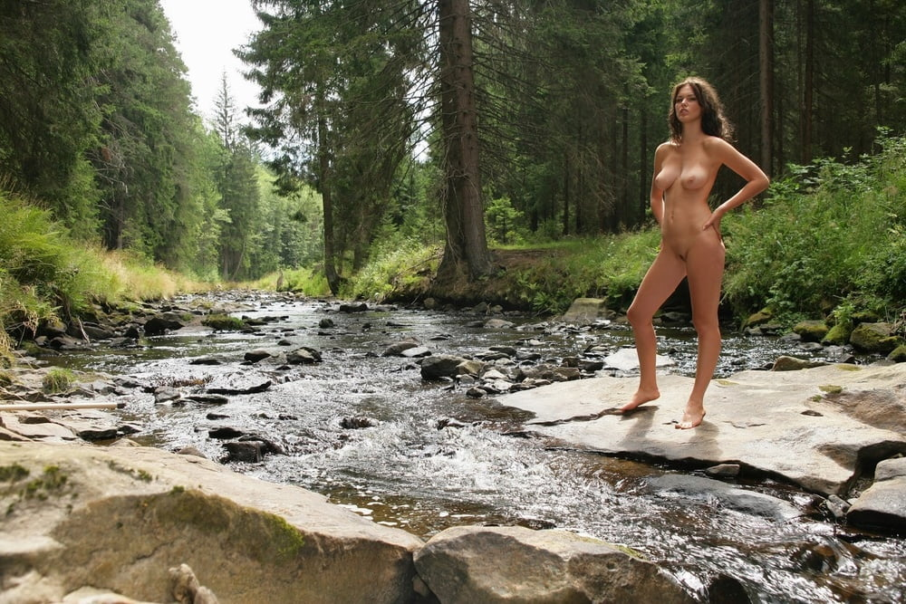 Naked women hiking trails nude