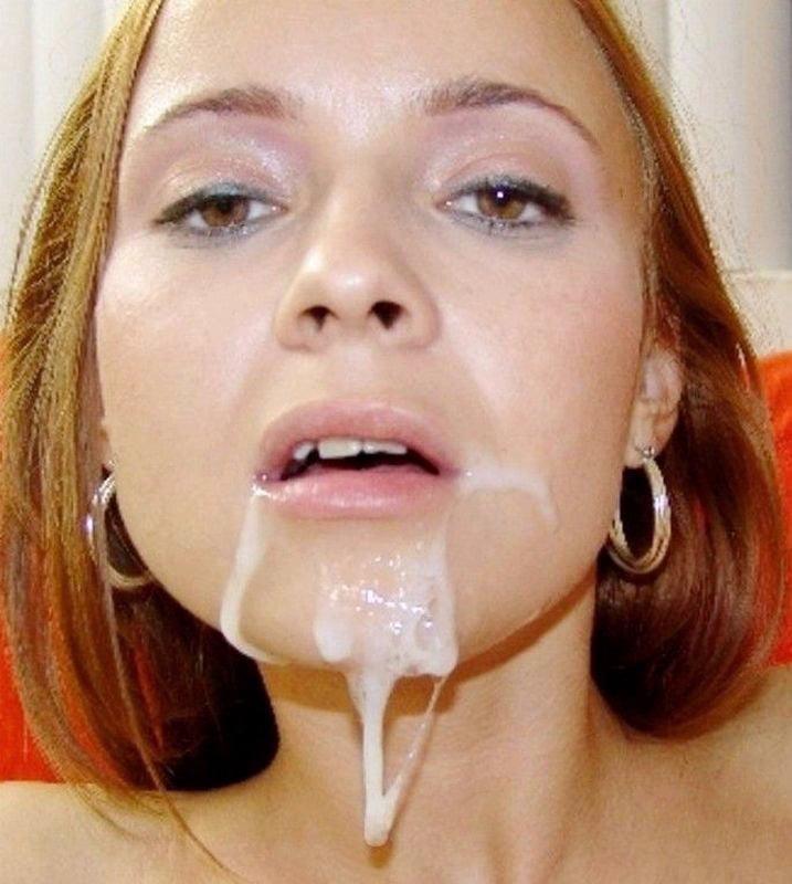 у милфы полный рот спермы - 14
