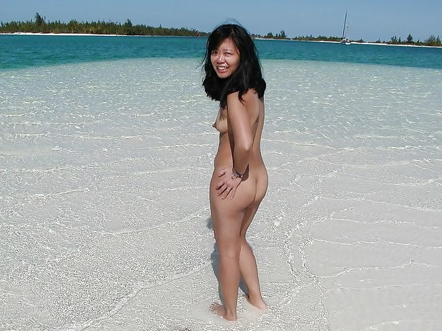 Naked asian beach