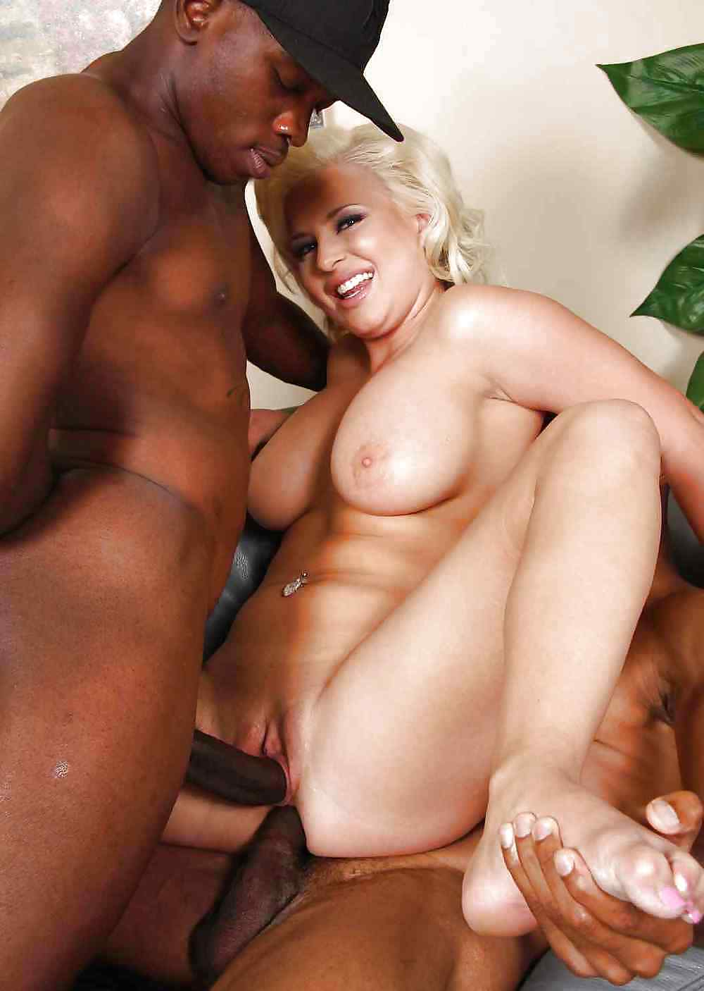 Black pounding blonde milf