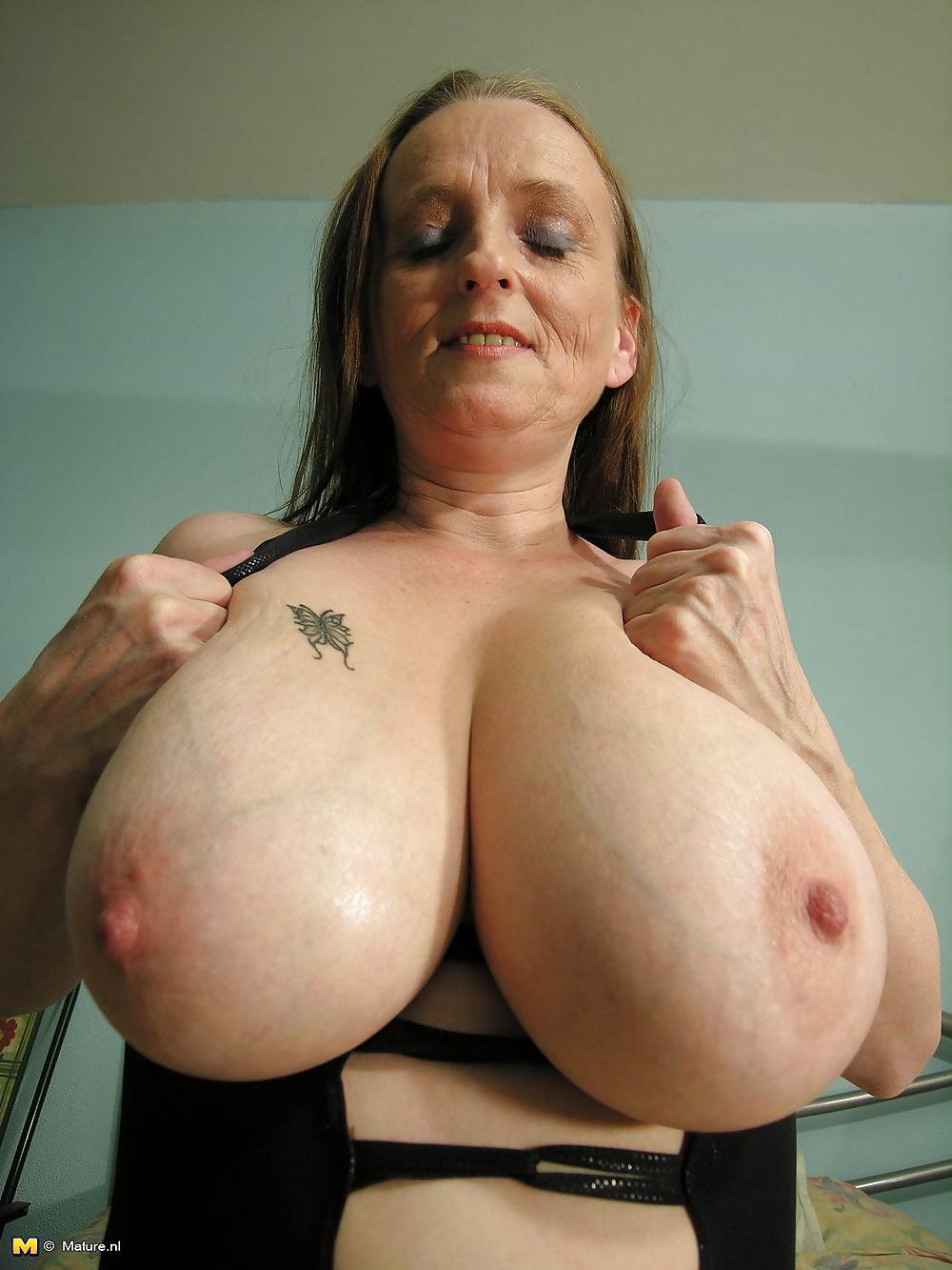 Giant grandma tits