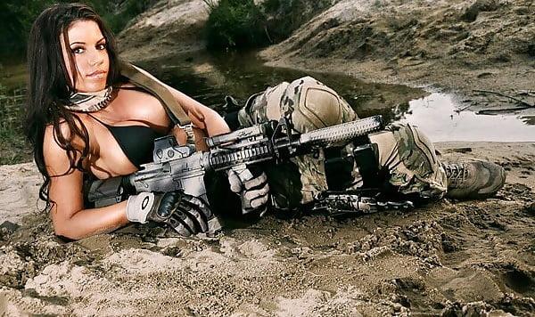 Nude women with machine guns 6