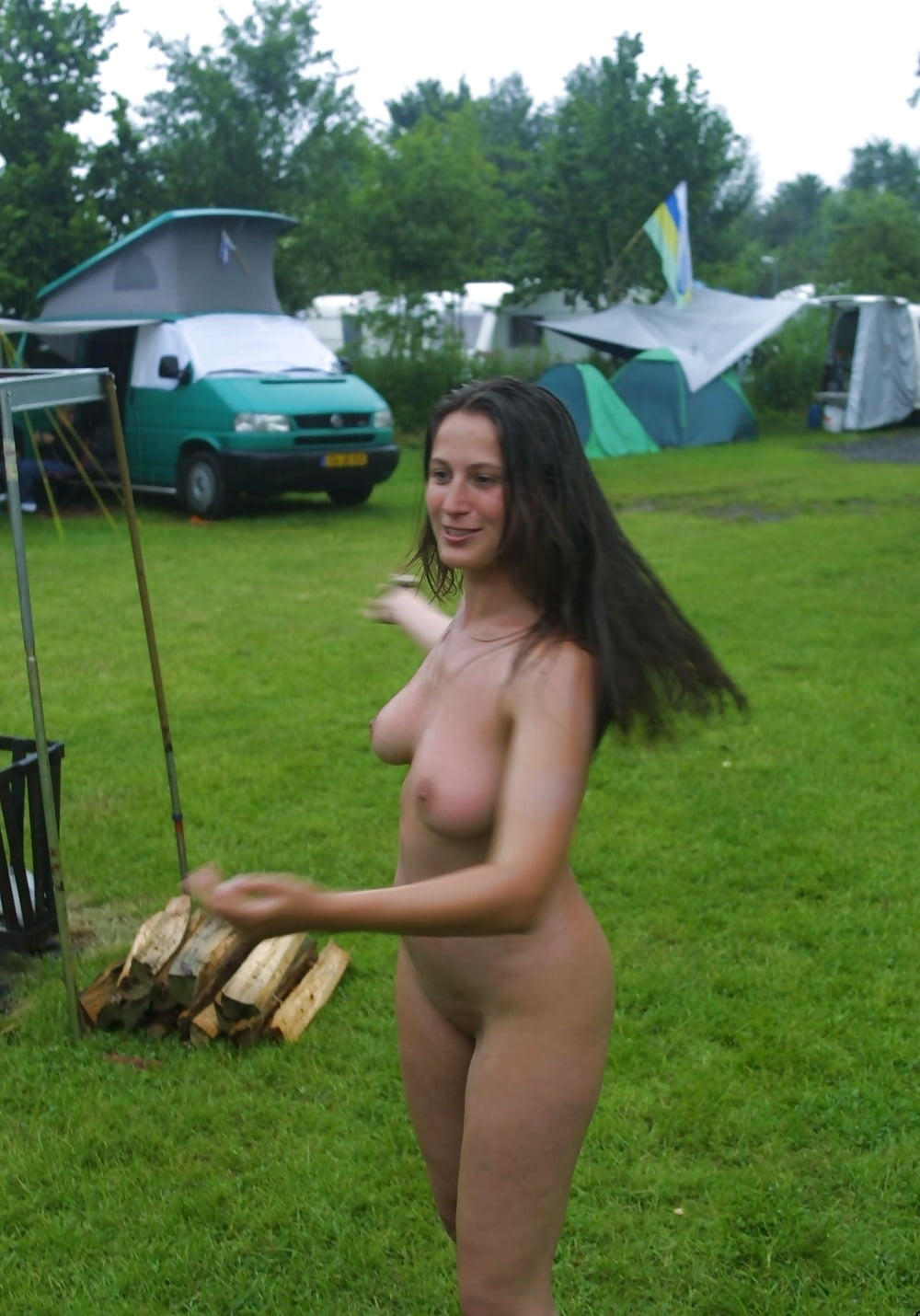 videos of women getting naked when camping