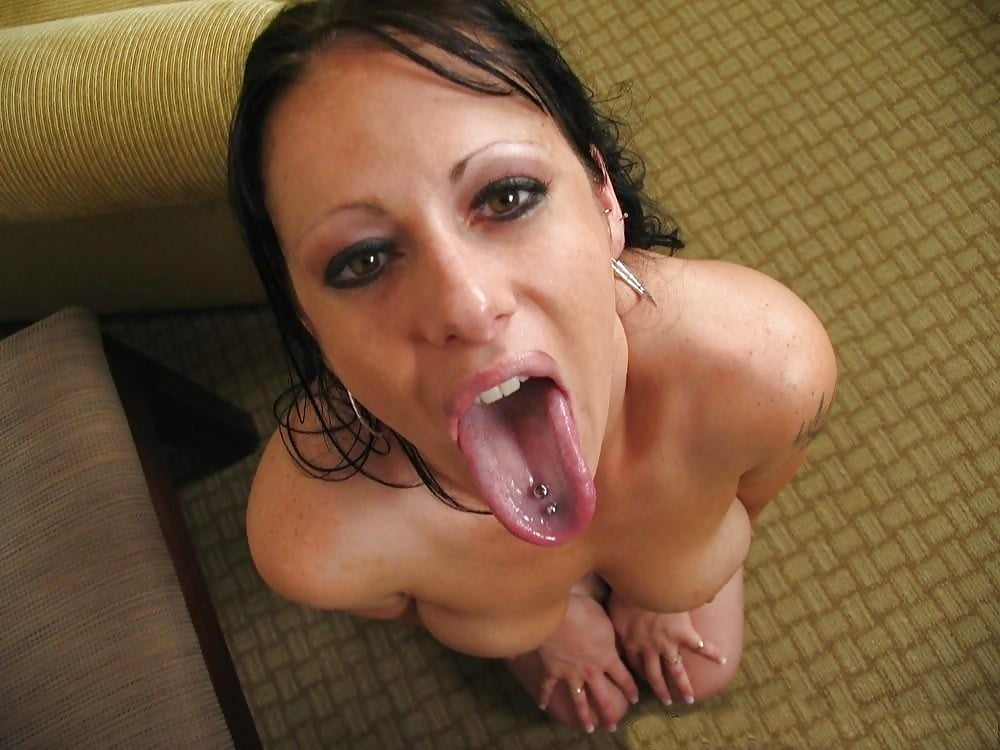 Nude girls sexualy sticking put their tongue