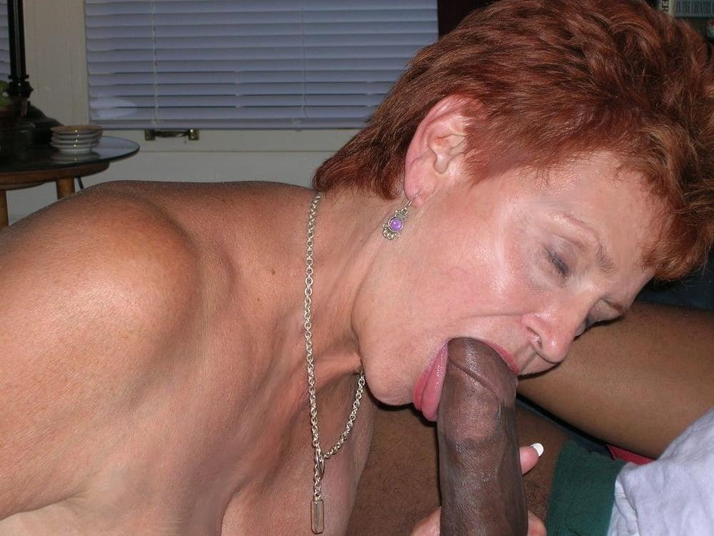 Red granny milf blowjob