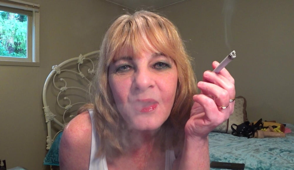 Porn mature smoking