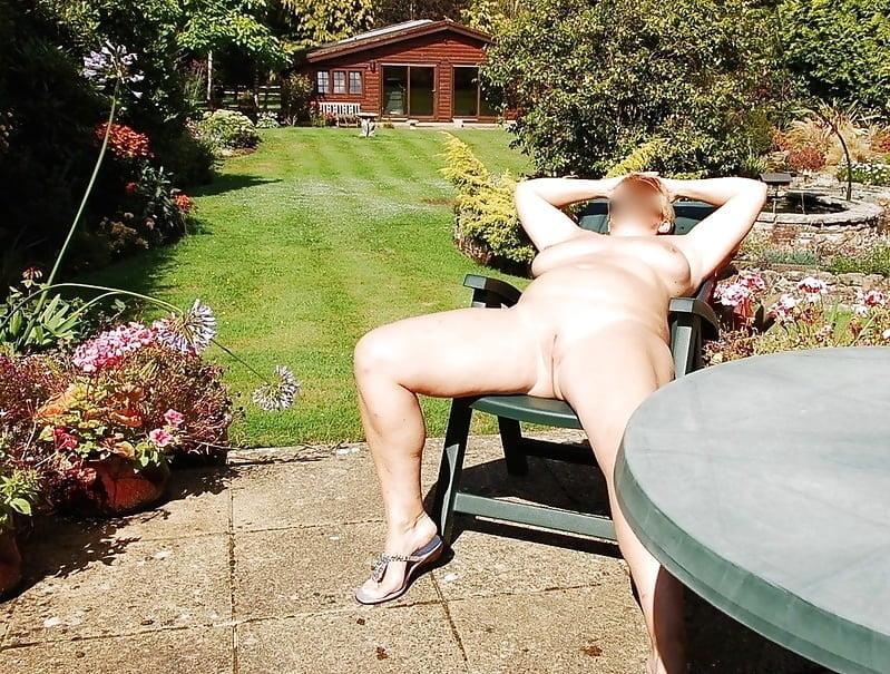 Wife in garden