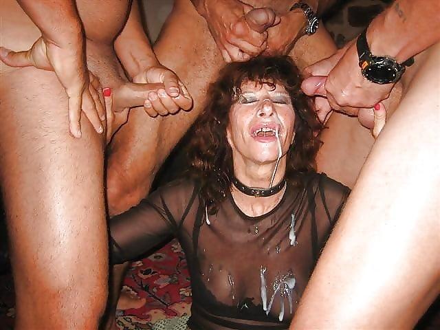 Older women pissing in public