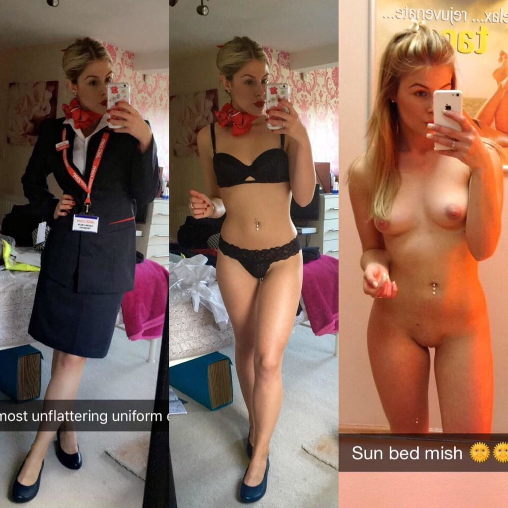 Nude stewardess Flight
