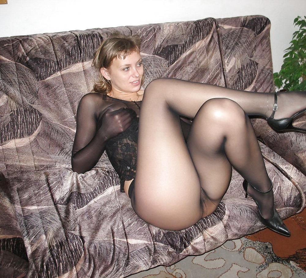 Something is. hot wearing pantyhose