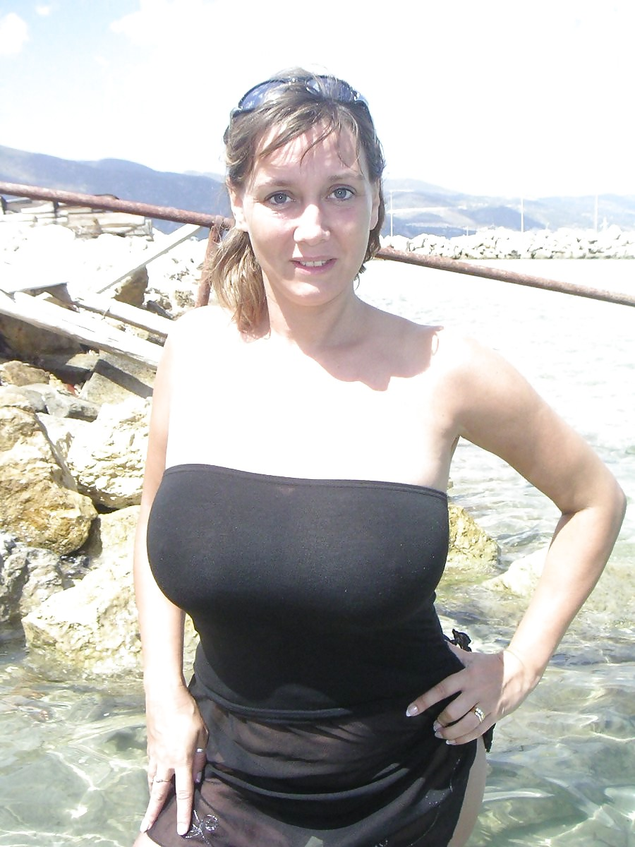 Beach milf at the Old Women