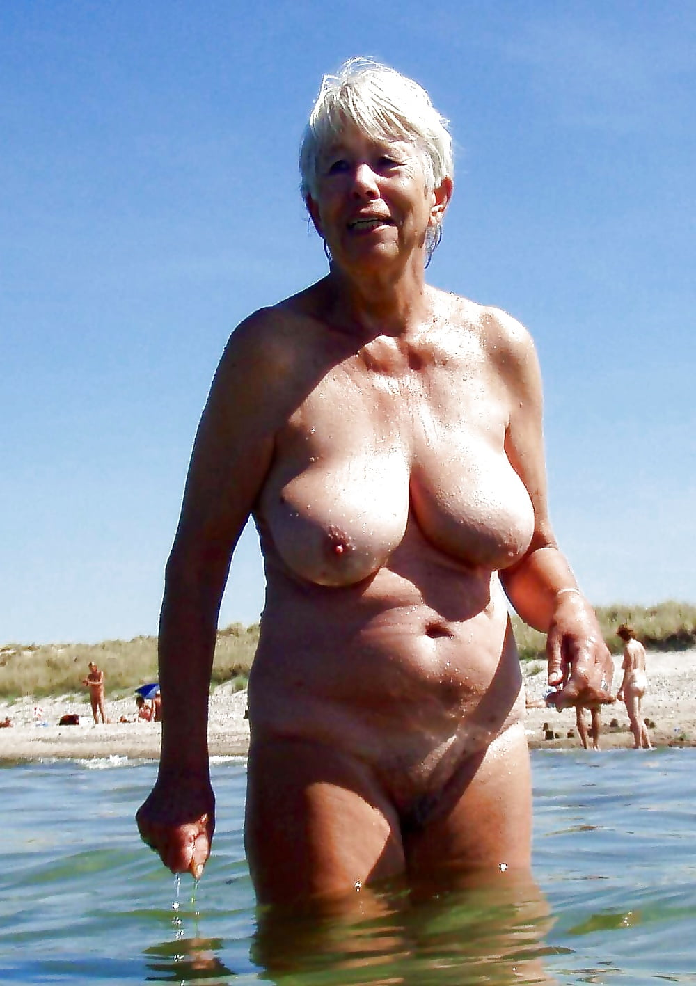 Granny at nude beach