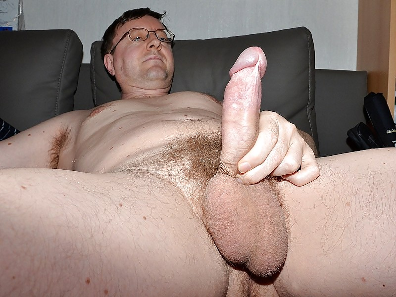 Sexy daddy jerks his big dick