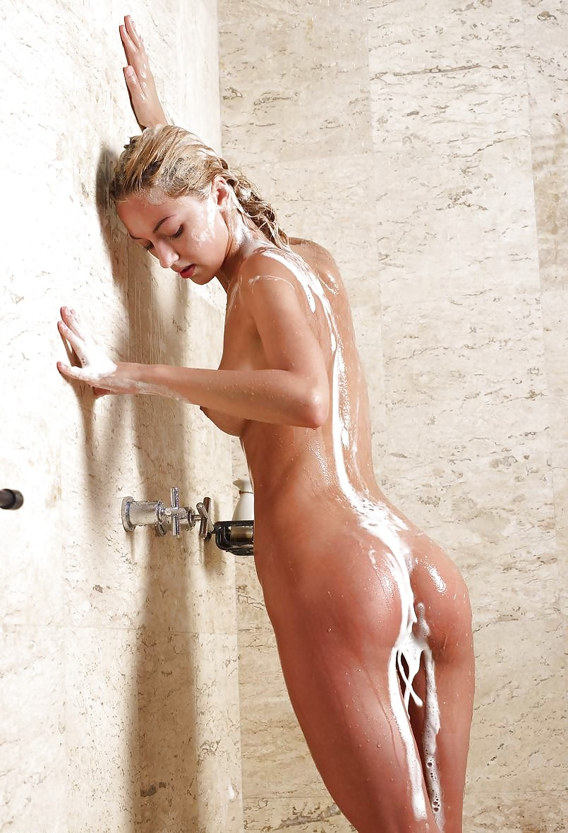 Getting out of the shower naked 15