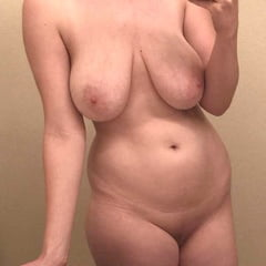 Short Hair Chubby MILF Shows Off Saggy Tits And Thick Ass