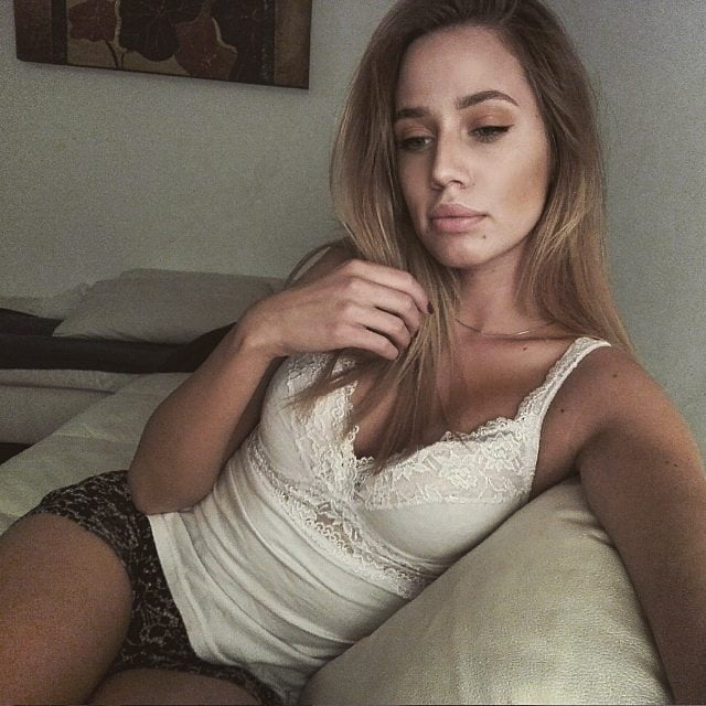 Serbian hot skinny slut blonde girl Aleksandra Andjelkovic