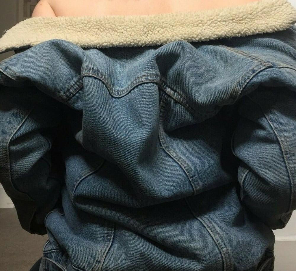 Levis pink denim jacket