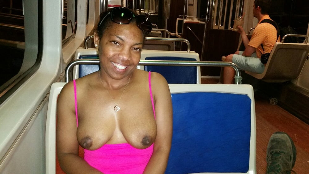 Black girl nude in public