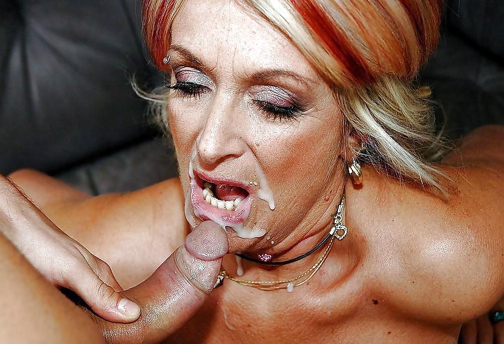 Mature Cum, Cum In Moms Mouth