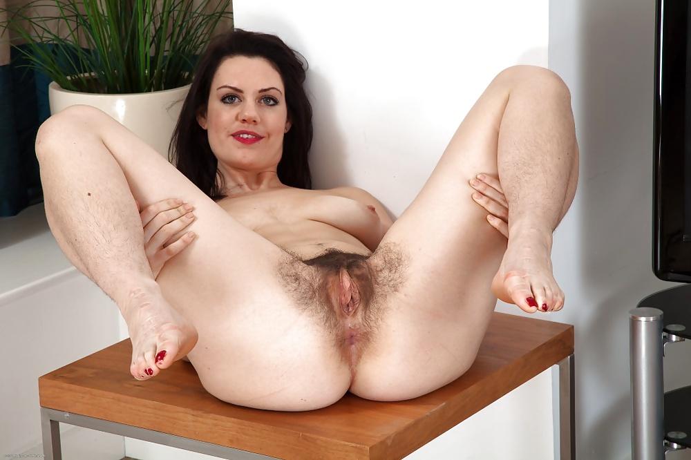 Cute milf hairy pussy spread