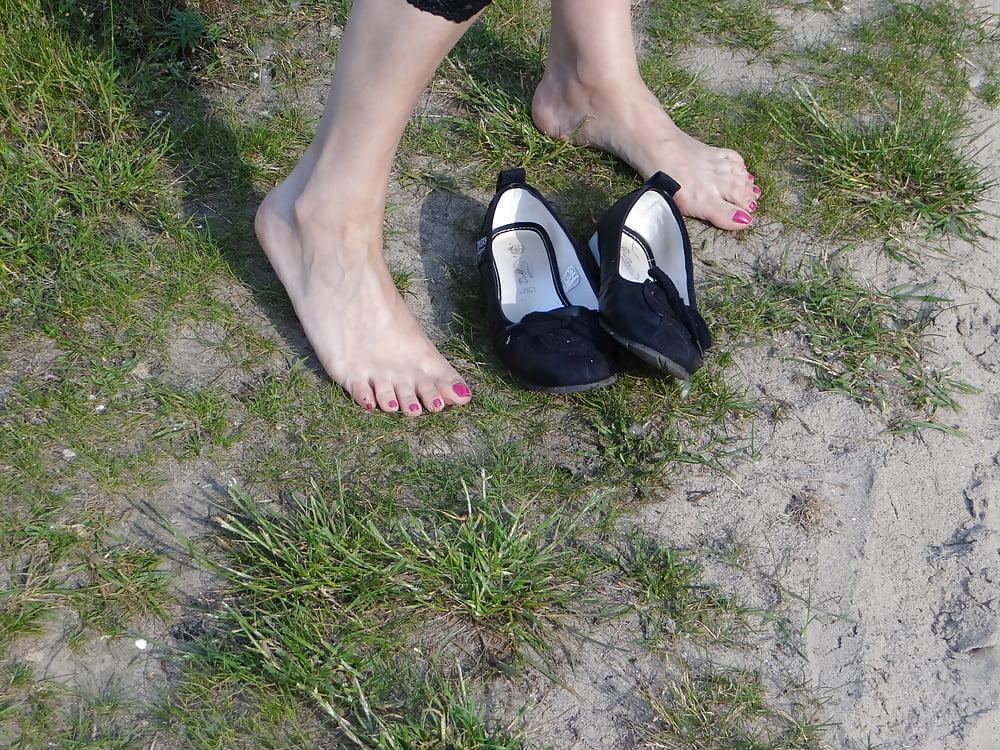 Lesbische füße strumpf