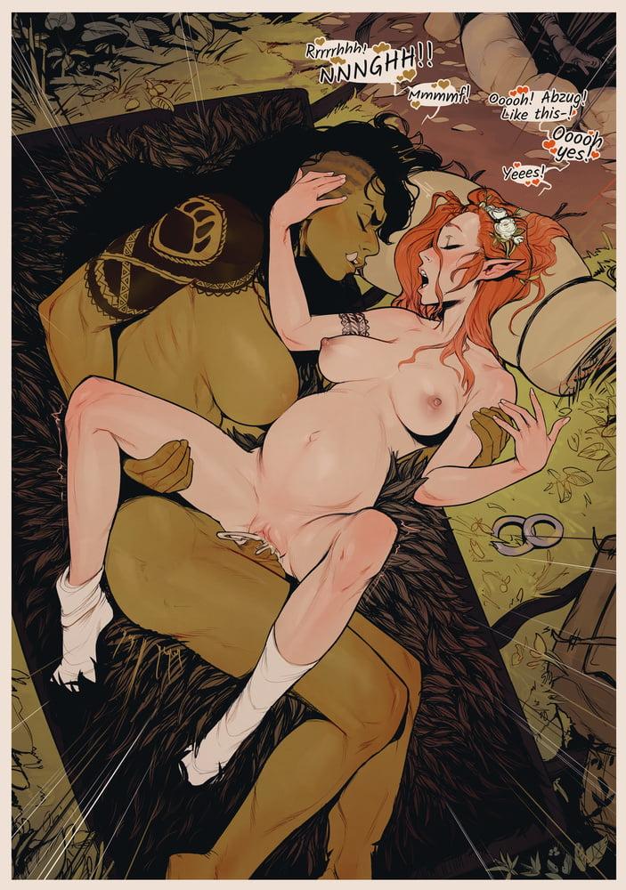 R34 (Incase) - The elf Princess and her orc futa Bodyguard