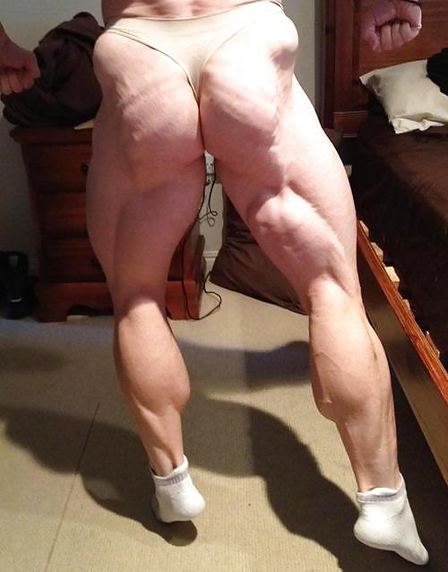Huge bodybuilder worship