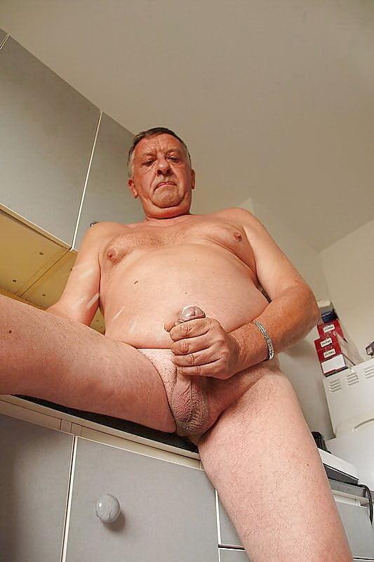 Old fat man masturbating