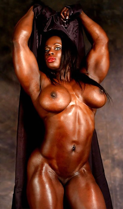 Black muscle girl sexy bondage threesome — 11