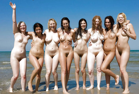 Women group nude Category:Nude standing