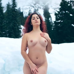 Naked In The Snow!