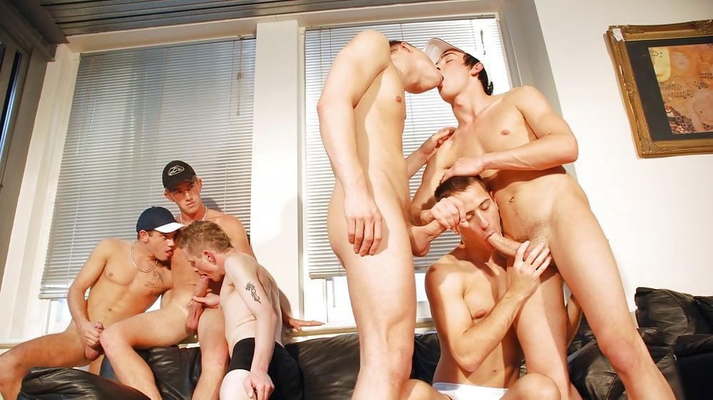 Homemade gang bang gay orgy porn pics